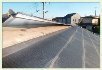 釘の緩みや抜けにより固定力が低下し、風に煽られて屋根材に浮きが生じる