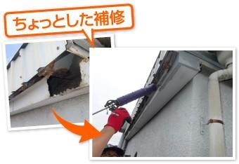 小屋裏の軽微な補修