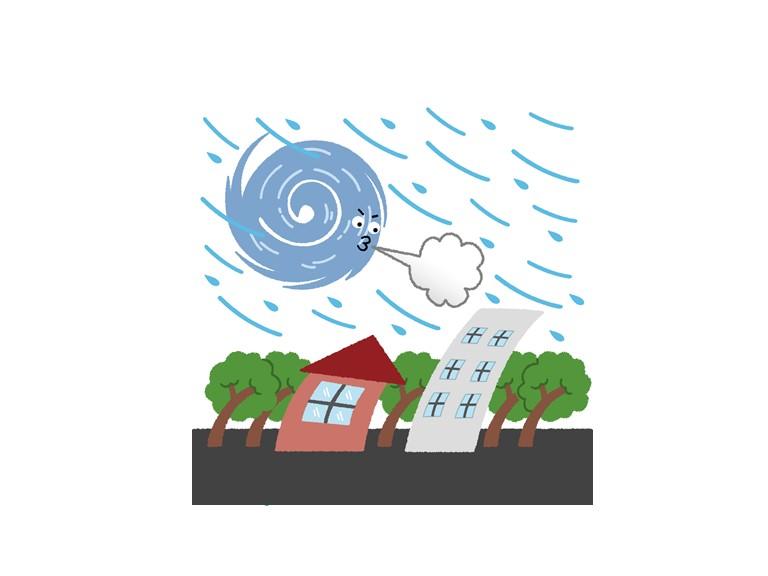 街の屋根やさん岸和田店・台風