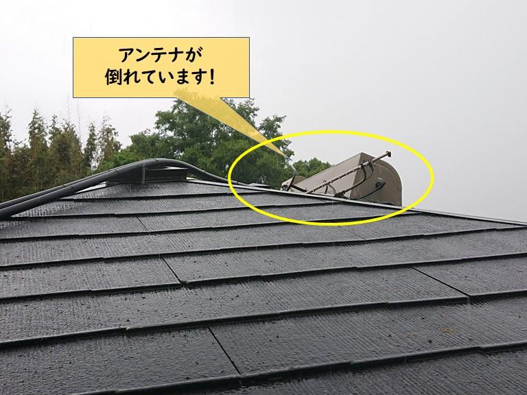 和泉市のアンテナが倒れています
