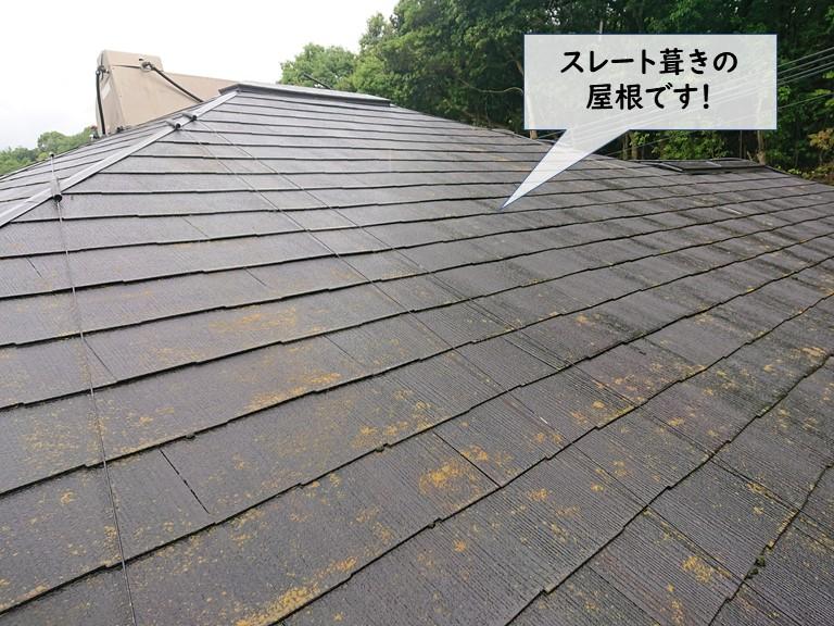 和泉市のスレート葺きの屋根