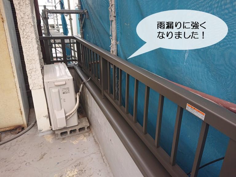 和泉市のベランダが雨漏りに強くなりました