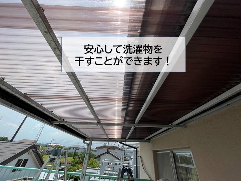和泉市の波板を張替えたので安心して洗濯物を干すことができます