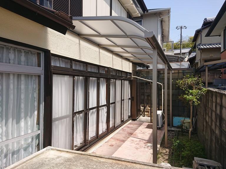 岸和田市で設置したアルミテラス