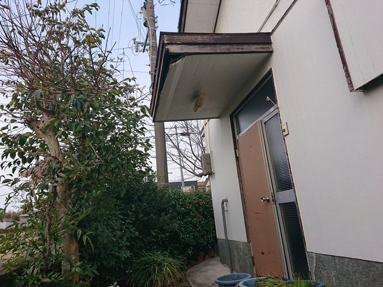 岸和田市の傷んだ玄関庇