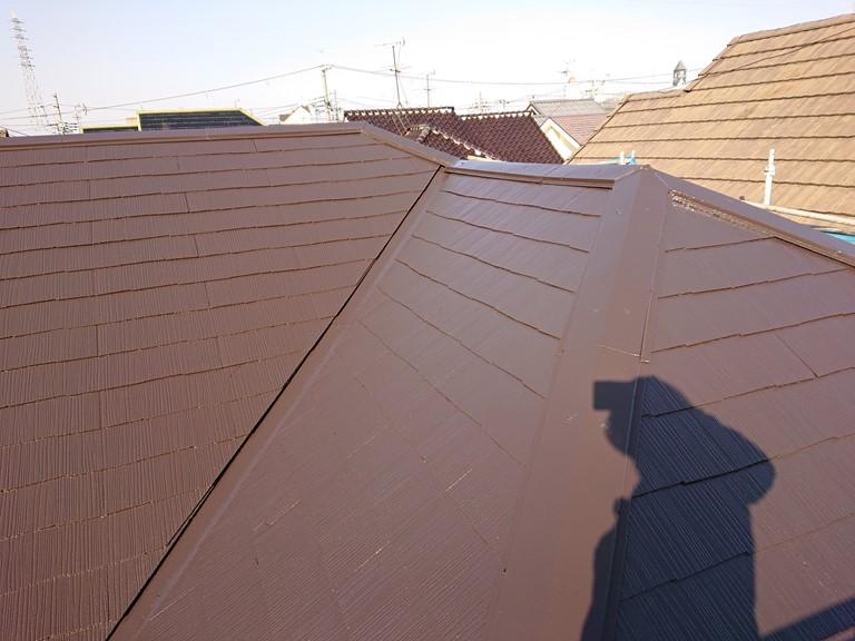 岸和田市の塗装後の屋根