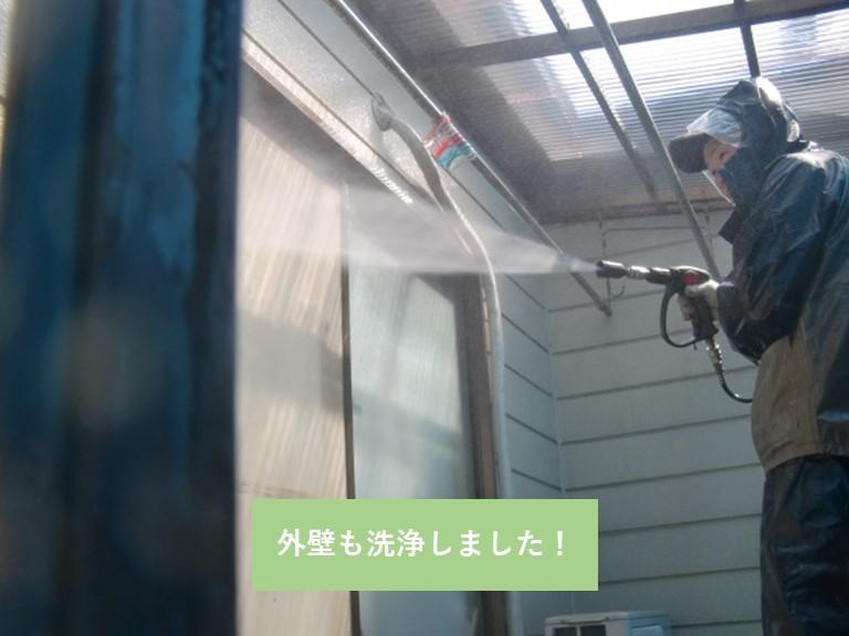 岸和田市の外壁も洗浄しました