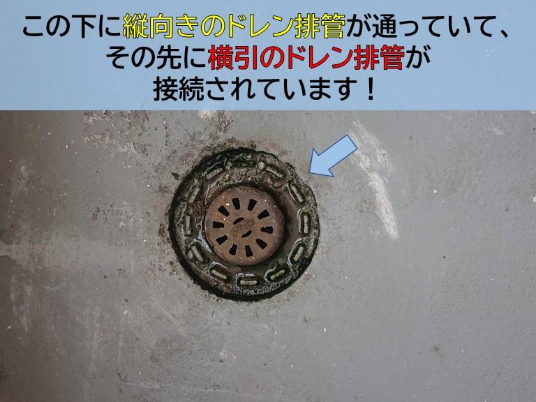 忠岡町のマンションのドレン排管