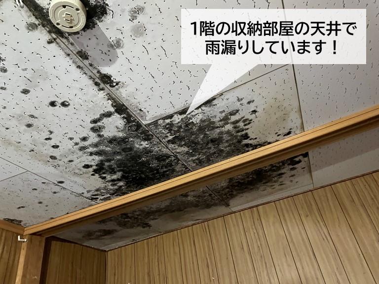 泉大津市の収納部屋の雨漏り修理