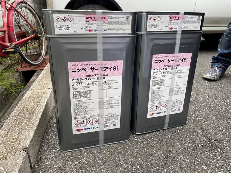 泉大津市の屋根塗装で使用するサーモアイSi