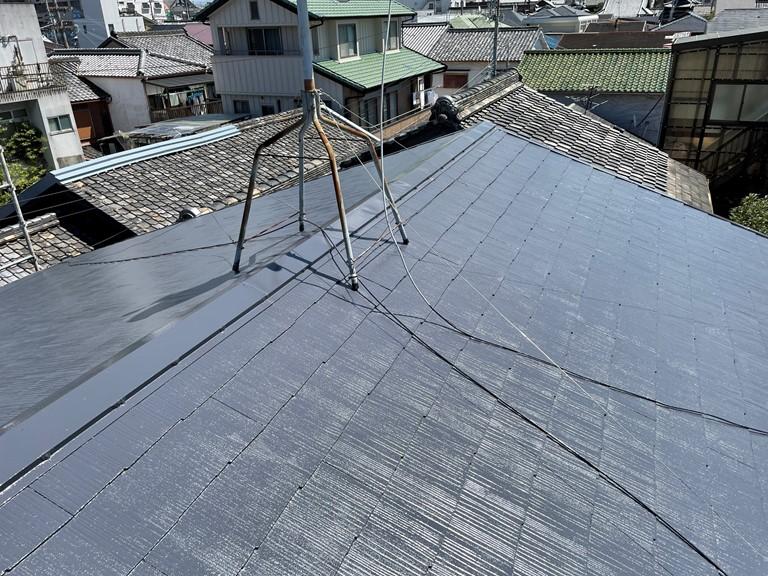 泉大津市の屋根塗装完了