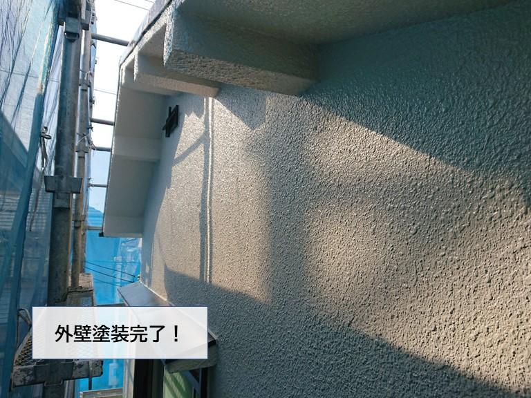 貝塚市の外壁塗装完了