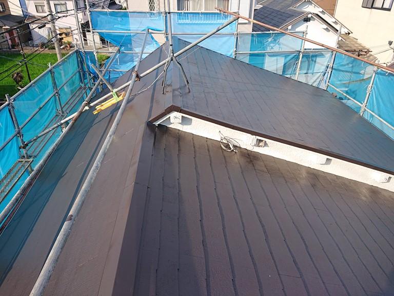 貝塚市の屋根塗装後