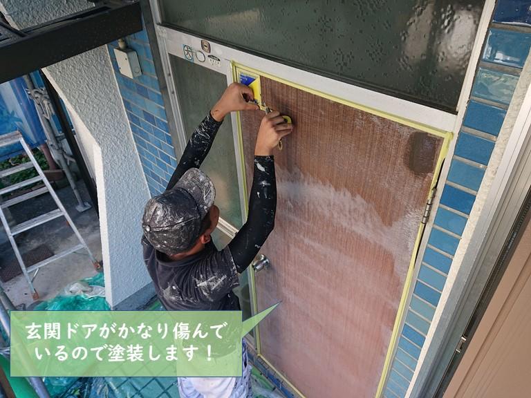 貝塚市の付帯部の塗装と塗装後のビフォーアフターをご紹介!