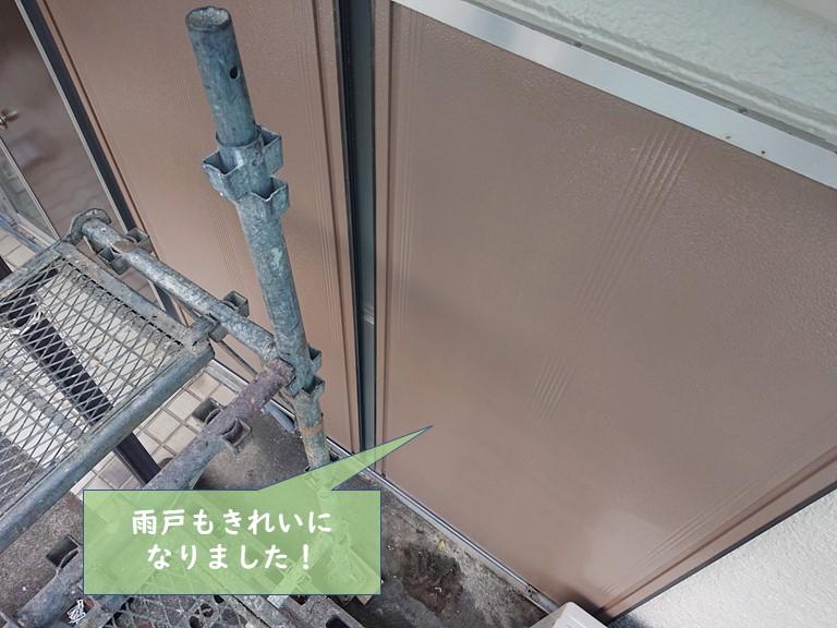 貝塚市の雨戸もきれいになりました