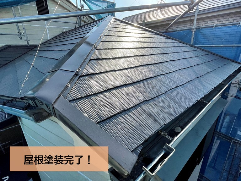 高石市の屋根塗装完了