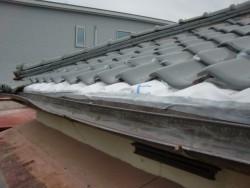 和泉市の台風被害に遭った屋根