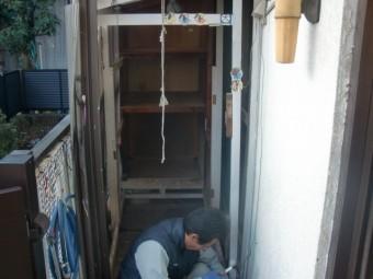 岸和田市土生町の屋根や床もすべて撤去