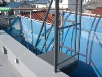 岸和田市の鉄階段塗装完了
