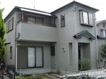 岸和田市尾生町の外壁・屋根塗装着工