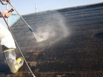 岸和田市岡山町の屋根の高圧洗浄
