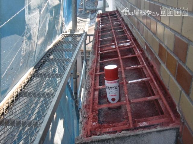 岸和田市の鉄筋に錆止め塗布