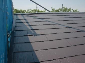 岸和田市摩湯町の屋根塗装工事完了