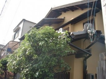 岸和田市春木本町のしっかりとひび補修もした外壁塗装
