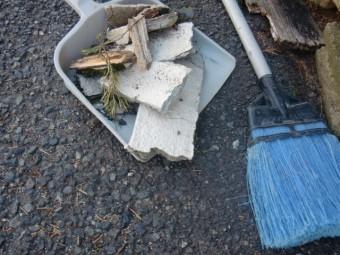 泉佐野市鶴原の崩れた庇を撤去します!