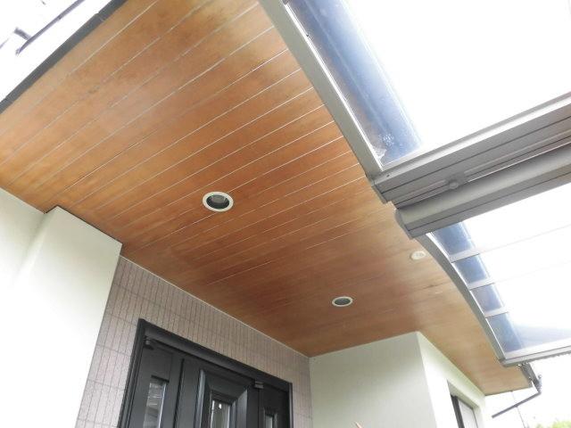 岸和田市 既存軒天井板