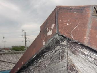岸和田市摩湯町の屋根の破風現況