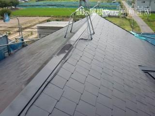岸和田市八田町で屋根の塗装後