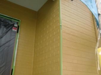 岸和田市尾生町の外壁上塗り完了