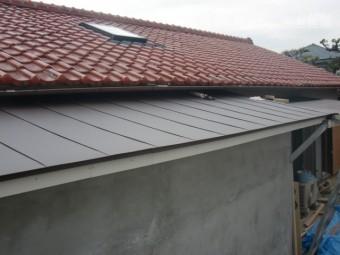岸和田市西之内町の屋根葺き替え完了