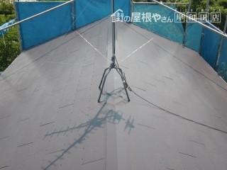 岸和田市摩湯町の屋根塗装で美しくなった屋根