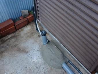 岸和田市土生町の水道管を固定しました!