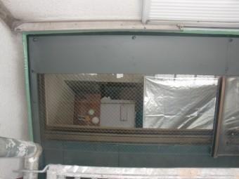 岸和田市春木本町の採光窓の周りの板金