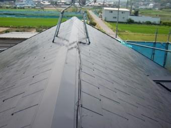 岸和田市八田町の屋根塗装完了