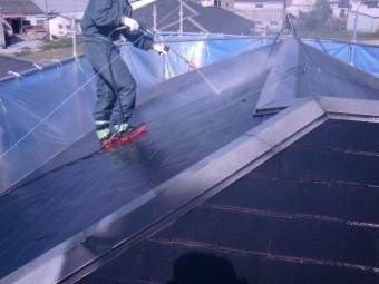 岸和田市尾生町の屋根の高圧洗浄