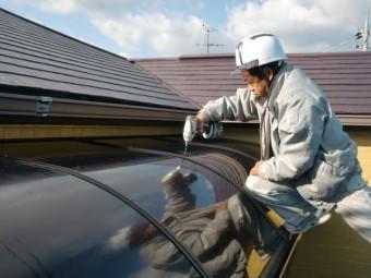 岸和田市尾生町のテラスの屋根パネル復旧