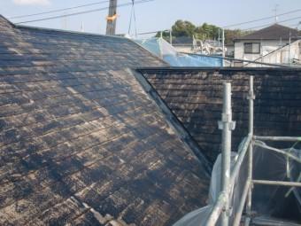 岸和田市岡山町の屋根下塗り完了