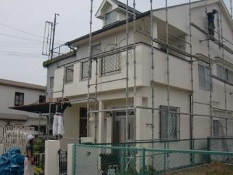 岸和田市春木本町の仮設足場の解体