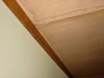 阪南市の一階の和室の天井に雨漏り