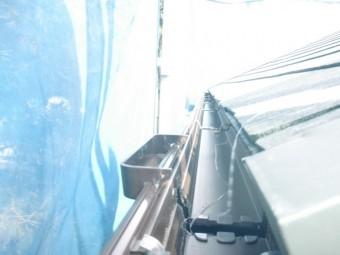 岸和田市春木本町の雨樋の内吊り金具