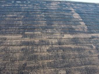 岸和田市岡山町の高圧洗浄後の屋根表面