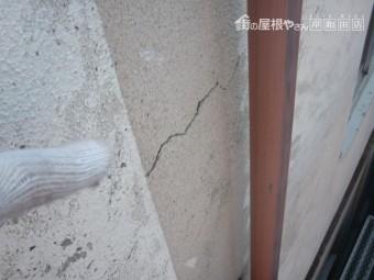 岸和田市の外壁の構造クラック