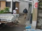 岸和田市摩湯町で仮設足場の解体工事