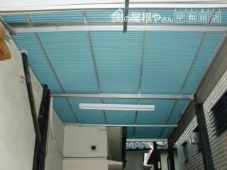 堺市中区のガレージの屋根貼り替え後