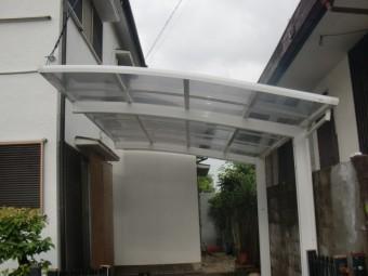 岸和田市摩湯町でカーポートの屋根復旧