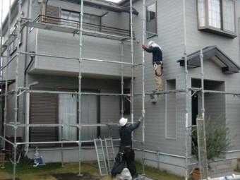 岸和田市尾生町の足場設置
